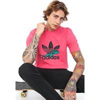 Camiseta Adidas Originals Logo Rosa