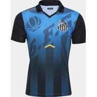 938eea0d1a Netshoes  Camisa Polo Santos Viagem Elenco Kappa - Masculino