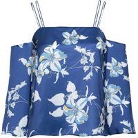 Blusa Floral Cetim Sandy