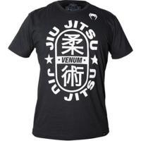 Camiseta Venum Jiu Jitsu Star Black Masculina - Masculino