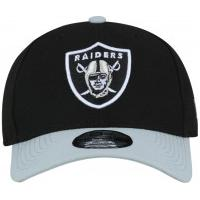 Boné Aba Curva New Era Oakland Raiders Basic - Snapback - Adulto -  Preto Branco 0f71f2f67bf