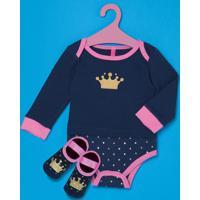 Kit Body + Sapatilha Princesa Baby Puket