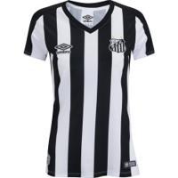 Camisa Do Santos Ii 2019 Umbro - Feminina - Preto/Branco