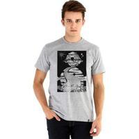 Camiseta Ouroboros Manga Curta Imaginação Livre - Masculino-Cinza
