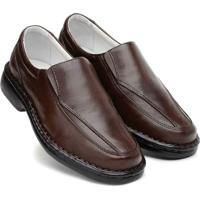 Sapato Masculino Confort Pele Carneiro Palmilha Massageadora Ranster - Masculino-Marrom