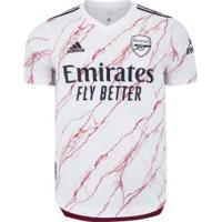 Camisa Arsenal Ii 20/21 Adidas - Masculina - Branco/Preto