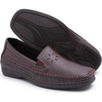 Sapato Conforto Top Franca Shoes Feminino - Feminino-Marrom