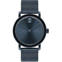 Relógio Movado Masculino Aço Azul - 3600610