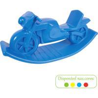 Moto De Balanço Azul Alpha Brinquedos