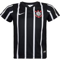 Camiseta Nike Corinthians Infantil Preta 9526ce9cae6d1