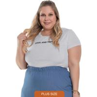 T-Shirt Feminina Cool And Trendy Mescla