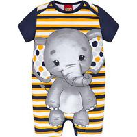 Macaquinho Bebê Kyly Banho De Sol Romper Elefante Masculino - Masculino-Amarelo