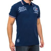 Camiseta Polo Kevingston Speed Rugby Manga Curta Azul Marinho