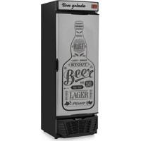 Cervejeira Porta Adesivo 450L Profissional Preto Gelopar 127V