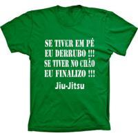 Camiseta Lu Geek Manga Curta Jiu-Jitsu Frase Verde