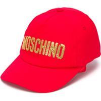 Moschino Kids Boné Com Logo - Vermelho