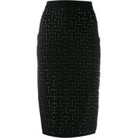 Michael Michael Kors Studded Knit Pencil Skirt - Preto