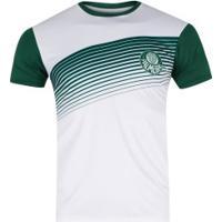 Camiseta Do Palmeiras Faixa 19 Meltex - Masculina - Branco/Verde