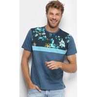 Camiseta Hd Especial Woodland Masculina - Masculino-Azul