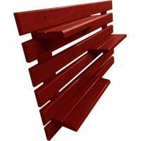 Floreira Vertical Madeira Alce Couch Vaso Parede Vermelho 60Cm - Vermelho - Dafiti