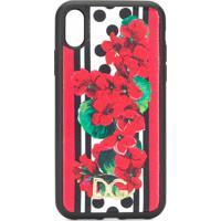 Dolce & Gabbana Capa Para Iphone Xr Floral - Preto