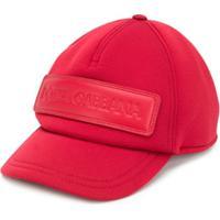 Dolce & Gabbana Kids Boné Com Patch De Logo - Vermelho