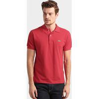 Camisa Polo Lacoste Original Fit Masculina - Masculino-Vermelho