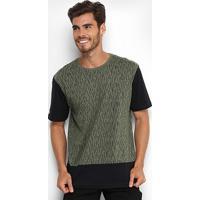 Camiseta Globe Full Print Masculina - Masculino-Verde