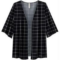 Kimono Tecido Estampado Preto