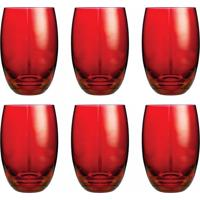 Conjunto De Copos Bellagio Vermelho 450Ml - Com 6 Peças - Casa Linda