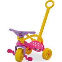 Triciclo Minnie Disney Com Empurrador E Proteção Rosa Xalingo
