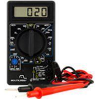 Multimetro Digital Corrente Ac + Dc Tensao 200M~1000V Bateria 9V Preto Multilaser - Au325