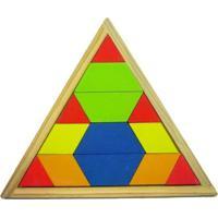 Mosaico Quebra Cabeça Colorido - Pirâmide - Amarelo