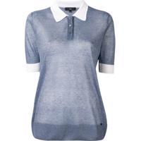 Fay Camisa Polo Translúcida - Azul