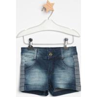 Short Jeans Com Recortesazul Escurolook Jeanslook Jeans