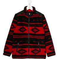 Ralph Lauren Kids Aztec Print Zipped Jacket - Preto