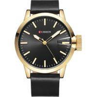 Relógio Curren Analógico 8208 Preto/Dourado