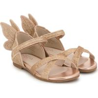 Sophia Webster Mini Sandália Com Bordado Chiara Dourada - Dourado