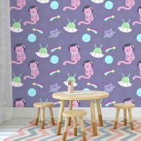 Outlet - 1 Rolo De Papel De Parede Cat Space 0,60 X 2,50 Metros