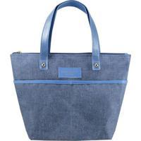 Bolsa Shopper Com Tag- Azul- 23,5X33X11,5Cm- Jacjacki Design