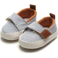 Sapato Pimpolho Menino Listras Branco