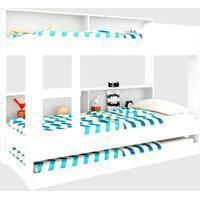 Treliche C/ Estante Miami Branco Art In Móveis