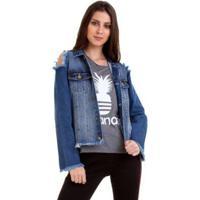 Jaqueta Versani Feminina - Feminino-Jeans