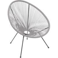 Cadeira Acapulco- Cinza & Preta- 85X74X48Cm- Or Or Design