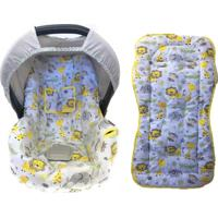 Conjunto Capa De Bebê Conforto E Capa De Carrinho Safari Alan Pierre Baby 0 A 13 Kg Amarelo
