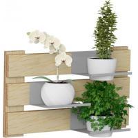 Jardim Vertical 3 Mini Prateleiras 2 Cachepots Green Be Mobiliário Natural