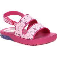 Sandália Mickey E Minnie Infantil Para Bebê Menina - Rosa Pink