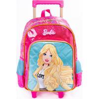 Mochila De Rodinhas Barbie Pink