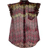 Dsquared2 Blusa Com Estampa Floral - Preto