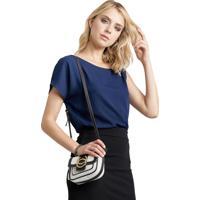 Blusa Mx Fashion Dupla Arya Azul Marinho